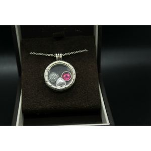 Pandora Floating Charm Necklace Silver Heart